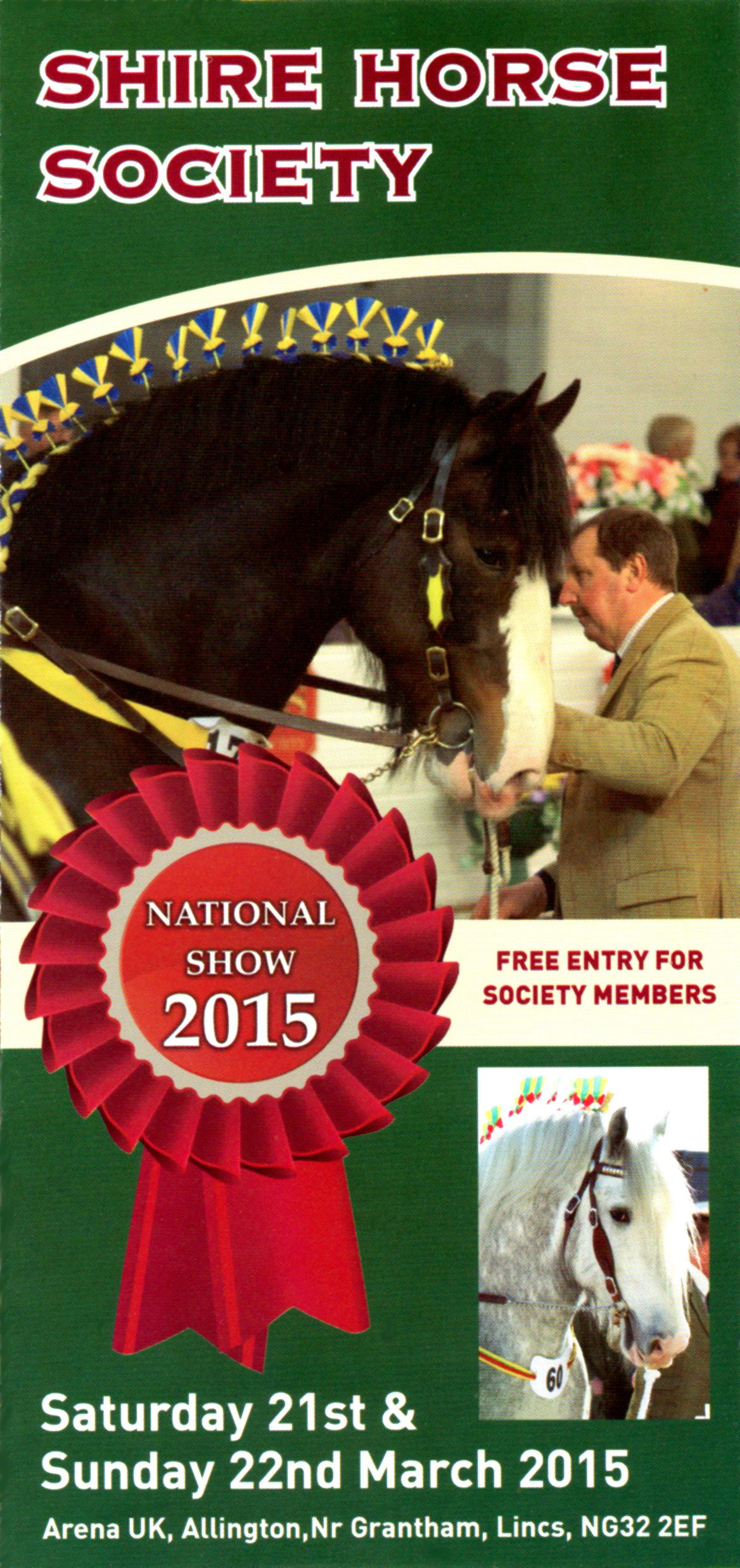 The Shire horse show 2015 takes place on a new show site: arena UK, showground Allington, near the town of Grantham.